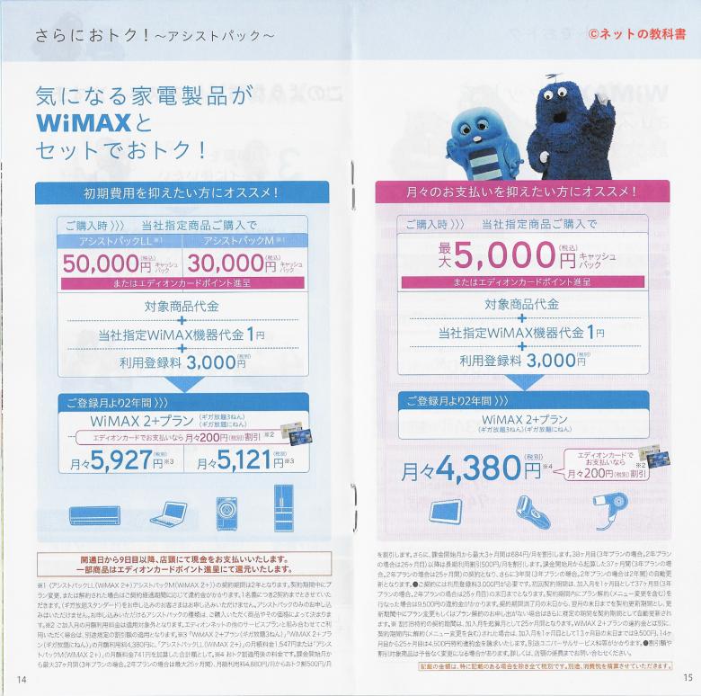 エディオンWiMAX料金プラン