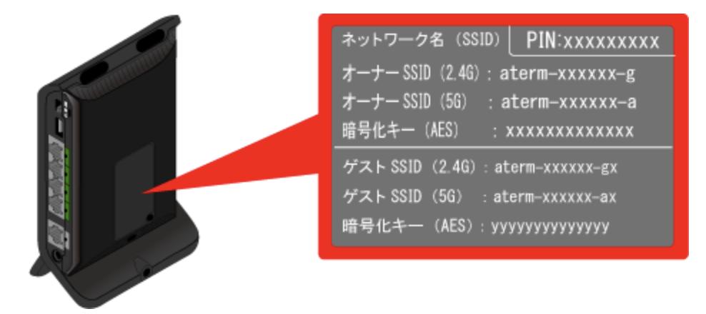 SSIDの確認方法