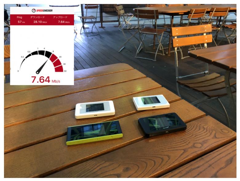 ポケットWi-Fi実測計測風景