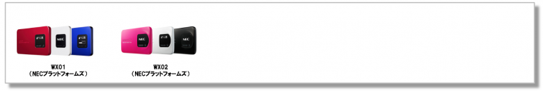WiMAX自動切換えモード終了 該当機種一覧