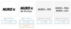 NURO光の対応エリア 提供状況
