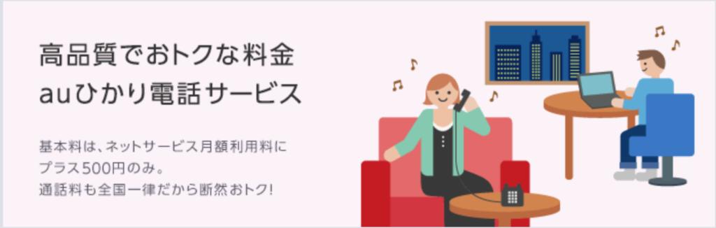 auひかり電阿波サービス
