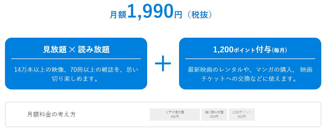U-NEXT 月額プラン1490