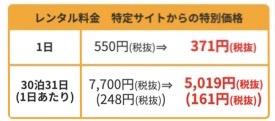 wx05レンタル料金