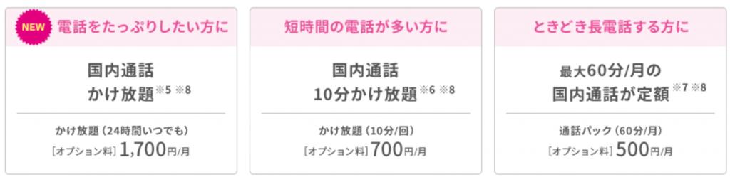 UQモバイル 通話料