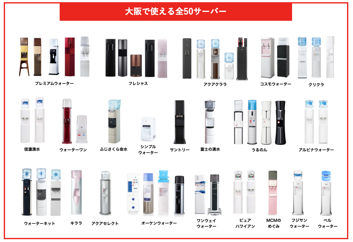 大阪で使える全50サーバー