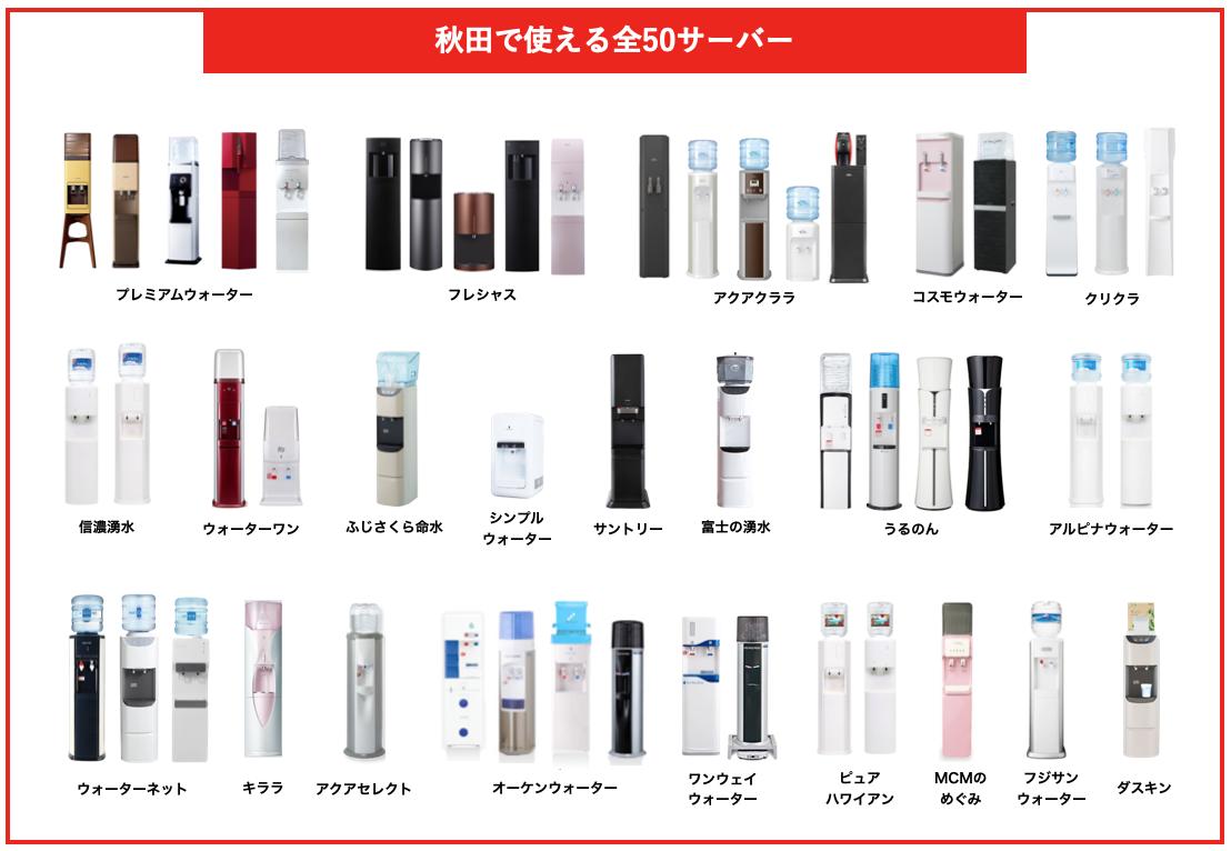 秋田で使える全50サーバー