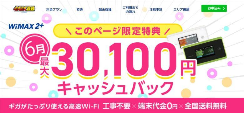 WiMAX GMOとくとくBB-CB