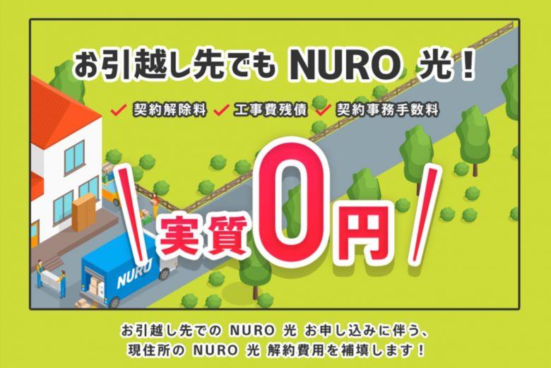 NURO光-お引越しサポート特典