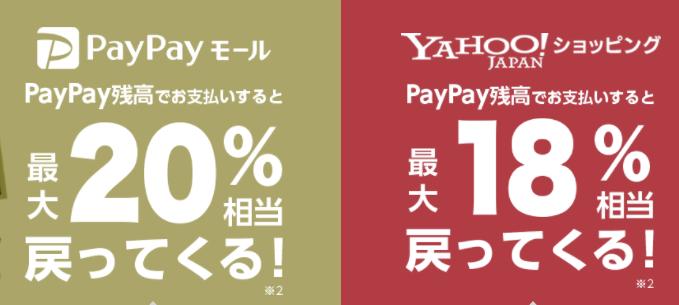 PayPayモールやYahoo!ショッピング
