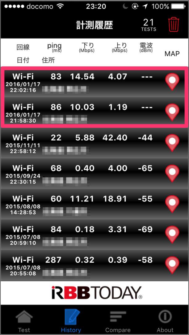 WiMAX 無制限 計測速度